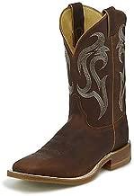 Justin Mens Bent Rail Bender Brown Boots