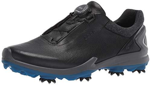 ECCO Men's Biom G3 BOA Gore-TEX Golf Shoe, Black Yak Leather, 43 M EU (9-9.5 US)