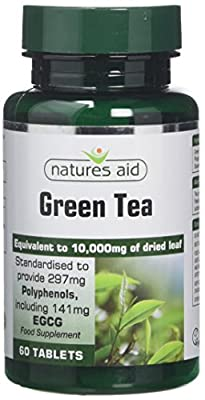 natures aid 10000 mg Green Tea Tablets - Pack of 60 Tablets by Natures Aid
