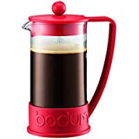 Bodum 1-Liter 8-Cup Coffee Make Brazil French Press, 34 Ounce (Red)