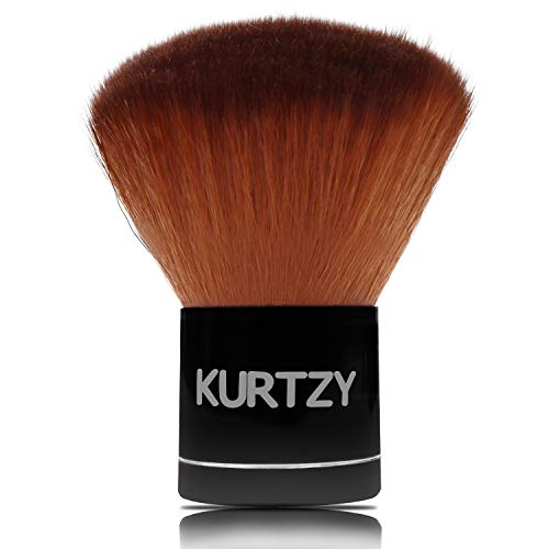 Brocha Kabuki - 7cm Brocha De Maquillaje Kabuki Profesional con Fibras Sintéticas Suaves - Pincel para Polvo para Maquillaje, Base, Resaltar y Mezclar