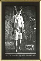 ポスター ステューシー ステューシー20th Anniversary プリント05 額装品 アルミ製ハイグレードフレーム(ゴールド)