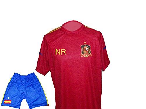 Spielfussballshop Spanien Trikot Hose mit Wunschname Nummer Größe S