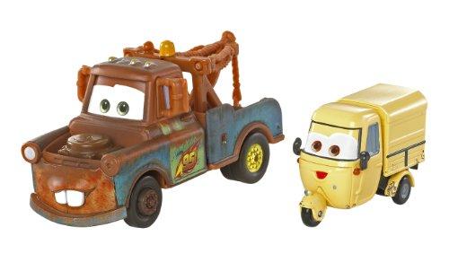 Disney Pixar Cars - V2841 - Voiture Miniature - Cars 2 - Race Team Mater / Martin & Sal Machiani (Ape)