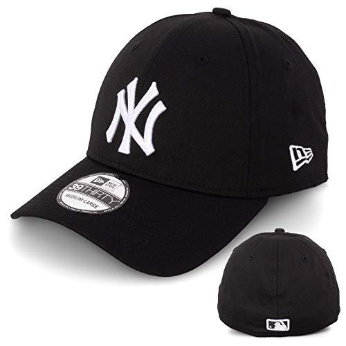New Era Basecap Baseball Cap Herren Limited Edition MLB Mütze 39THIRTY Stretch Fit New York Yankee, LA Dodgers, Essential Basic (S/M, Black/White)