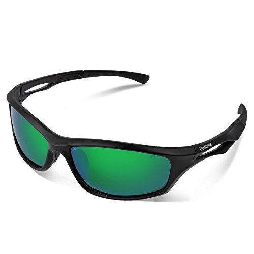 Duduma Polarized Sports Sunglasses for Men Women Baseball Running Cycling Fishing Driving Golf Softball Hiking TR90 Unbreakable Frame (black...
