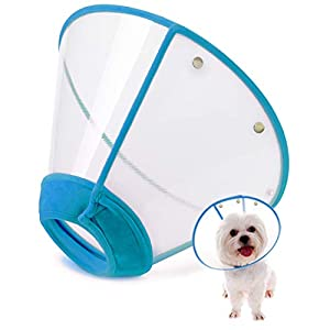 IN HAND Adjustable Pet Recovery Collar Cat Cone, US Patented Product Soft Edge Plastic Dog Cone Anti-Bite Lick Wound Healing Safety Practical Protective E-Collar