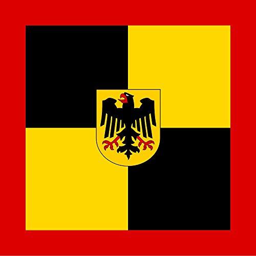 magFlags Flagge: Large Dienstflagge des Generalinspekteurs der Bundeswehr | Fahne 1.35m² | 120x120cm » Fahne 100% Made in Germany
