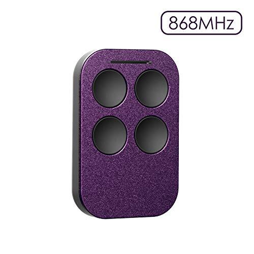 Universal Handsender, Refoss 868MHz Sender für mit 4 Tasten, Garagentor Funkfernbedienung, Selbstlernend Transmitter, Kompatibel mit HSM2, HSM4, HS1, HSES2, HSZ1, HSP4, 4020, 4026