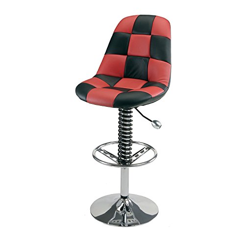 Pitstop Furniture HR1300R Red & Black Pit Crew Bar Chair