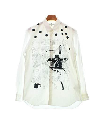 COMME des GARCONS SHIRT コムデギャルソンシャツ カジュアルシャツ メンズ 白x黒 M 【中古】