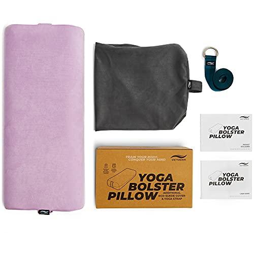 Bolster de yoga Victorem - Cojín de meditación con funda adicional lavable a máquina,...