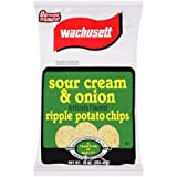 Wachusett Sour Cream & Onion Potato Chips, 10-ounce Family Size Bags (3 Pack)