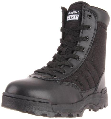 Original S.W.A.T. Men's Classic 9' Side Zip Work Boot,Black,10 W US