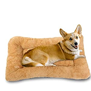 Vovodog Non-Slip Dog Bed Mats and Soft Plush Thicker Dog Crate Pad for Small Dog, Medium Dog, Large Dog,Washable Dog Bed are Less Likely to Get Dirty