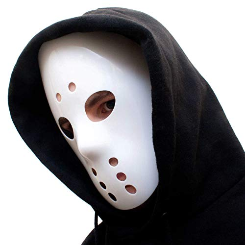 Goods & Gadgets Weiße Jason Ice-Hockey Maske Friday 13 Eishockey Hockeymaske Horror Halloween Mask