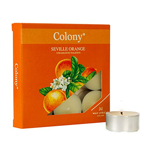 Wax Lyrical Tealights Pk/9 Seville Orange,