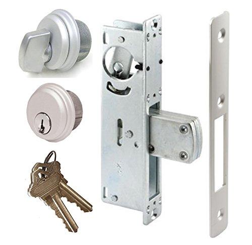 Pacific Doorware Storefront Door Mortise Lock Swing Deadbolt & Cylinder Combo, Adams Rite Cam, in Aluminum (1-1/8