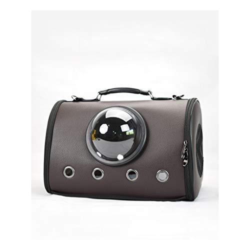 JXLBB Sac de Voyage pour Animaux de Compagnie Cat Bag Space Cabine pour Animaux de Compagnie (Color : Brown)