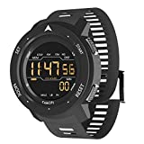 Super Light Digital Sports Watch for Men with Pedometer, Counting Calories, Alarm, Black, Model: Mars