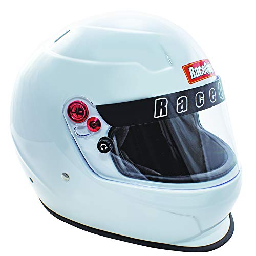 RaceQuip Full Face Helmet PRO20 Series Snell SA2020 Rated Gloss White Large 276115