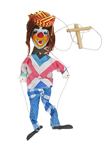 Leos Imports Mexican Puppet Marionette (Clown)