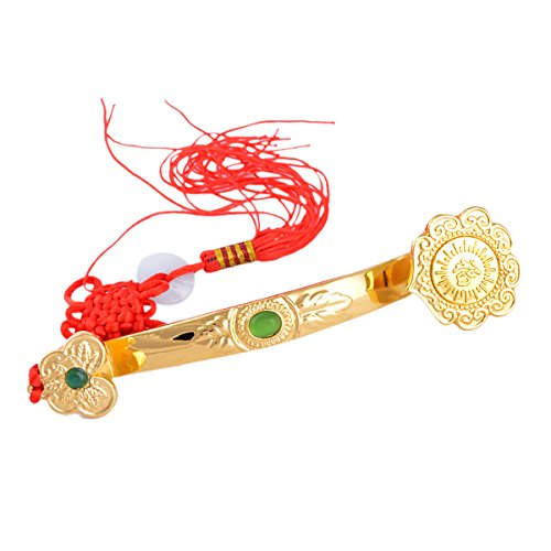 Feng Shui Golden Ruyi/Ru Yi Power Scepter + Free Red String Bracelet J1035