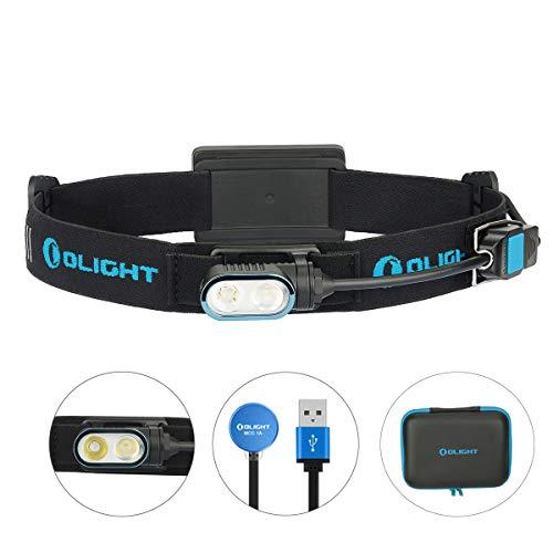 Olight Array Stirnlampen 400 Lumen Kaltes Weiß LED USB Magnetische Wiederaufladbare Stirnlampe Wasserdichte Tragbare Kopflampe für Camping Angeln Klettern Laufen, mit 18650 Akku & Batteriefach
