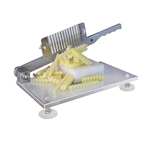 Picadora de verduras Fries máquina de cortar profesional de acero inoxidable cortó la máquina de cortar la patata francesa flor ondulada rebanadora de Fantasía Fries Máquina Mandolinas para alimentos