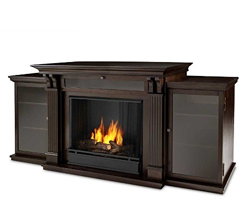 Real Flame Calie Entertainment Center Ventless Gel Fireplace - Dark...