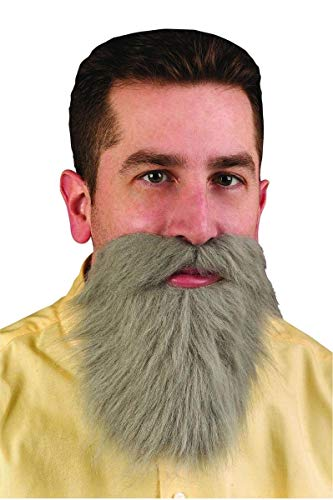 Fun World Accessorie's Men's Gray Mustache and Beard, Standard