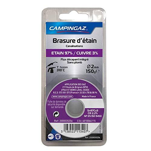 CAMPINGAZ - Bobina de estaño 97% / cobre 3%, sin plomo, diámetro 2 mm, 150 g