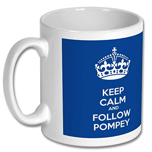 Portsmouth Football Mug - Keep Calm and Follow Pompey Mug - Portsmouth Football Club Mug, Pompey Gift