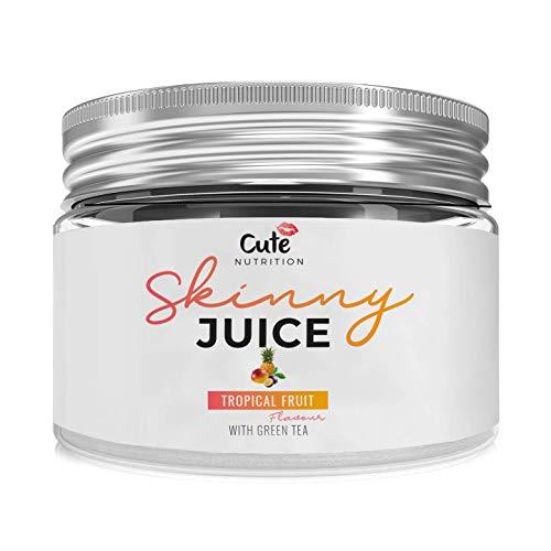 CUTE NUTRITION® Skinny Juice Fatburner Muskelaufbau Tropenfruchtpulver Saft Vegan | 240g | Tropische Frucht | Diät Fettburner | GVO-frei
