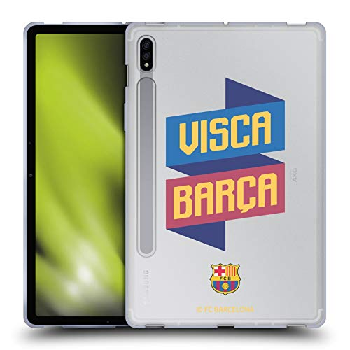 Head Case Designs Oficial FC Barcelona Visca Forca Barca Carcasa de Gel de Silicona Compatible con Samsung Galaxy Tab S7 5G