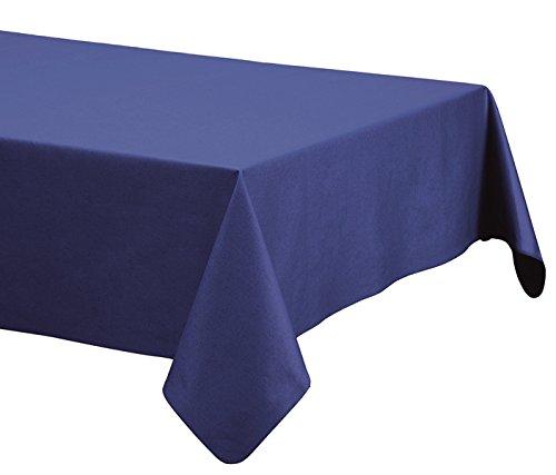 Mantel de lino-algodón anti manchas, modelo Lino natural, resinado y con Teflón de Dupont® (150x150, Azulón)