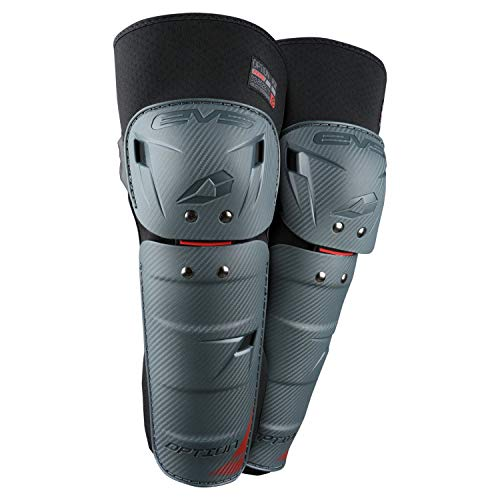 EVS Sports Unisex-Adult Knee Guards (Gray, 2 Pack
