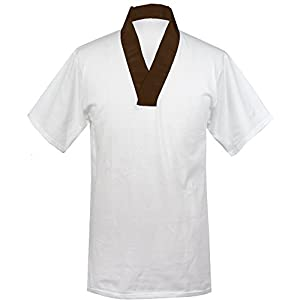 KYOETSU Men's Japanese Kimono Undergarment T-Shirt Hanjuban