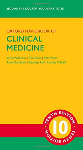 Compare Textbook Prices for Oxford Handbook of Clinical Medicine Oxford Medical Handbooks 10 Edition ISBN 9780199689903 by Wilkinson, Ian,Raine, Tim,Wiles, Kate,Goodhart, Anna,Hall, Catriona,O'Neill, Harriet