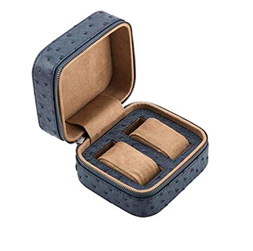 CCAN PU Leather Watch Box Storage with Zipper Travel Watch Mechanical Watch Storage Box Gift Jewelry Storage 2 Slots Interesting Life