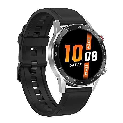 ZHENAO Smart Watch, Pantalla Redonda Táctil Inteligente de 1.3 Pulgadas, Podómetro de Deportes de Llamadas de Bluetooth, Datos de Alta Definición a Prueba de Agua, Pulsera, Pulsera