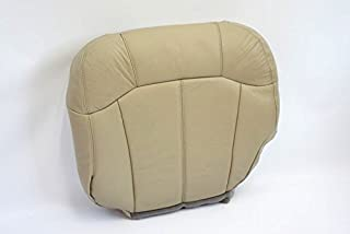 2000 Chevy Tahoe LT LS -Driver Side Bottom Replacement Leather Seat Cover TAN-
