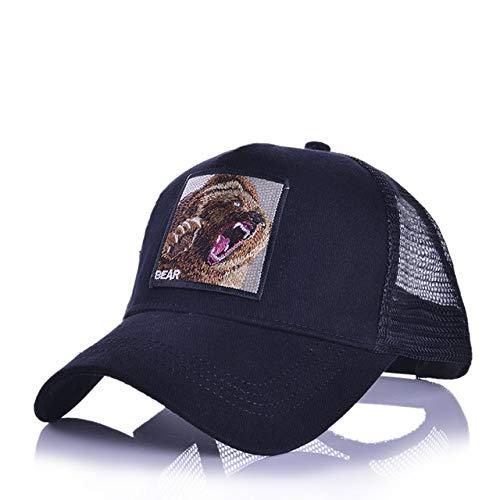 Gorras de béisbol deModaHombres Mujeres Snapback Hip Hop Sombrero Verano Malla Transpirable Sun Gorras Unisex Streetwear-a19