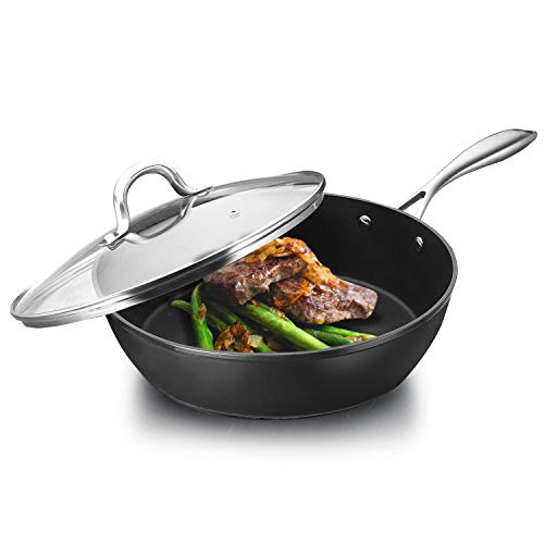 Cooker King Nonstick Saute Pan with Lid