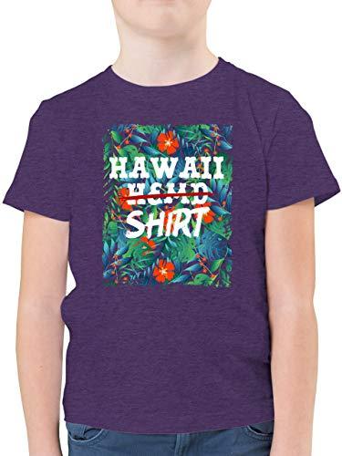 Karneval & Fasching Kinder - Hawaii Hemd Shirt - 140 (9/11 Jahre) - Lila Meliert - Hawaii Hemd Kind - F130K - Kinder Tshirts und T-Shirt für Jungen