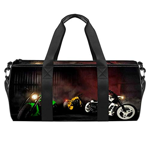 Xingruyun Sporttasche Kinder Motorrad 03 Badetasche Gym Tasche schwimmtasche Schultertaschen Reisetasche Urlaubstasche klein Fitnesstasche Sport-Taschen für Mädchen Jungen 45x23x23cm