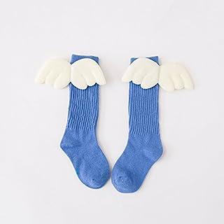 Kanggest.Calcetines de otoño e Invierno Medias Calcetines con Alas para Niño Niña Calcetines de Lana Gruesos Largos Novedad Elástico Deportes Socks Calcetines de Nieve Calientes Azul