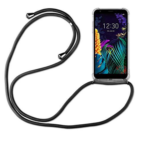 betterfon | LG K30 2019 Handykette Smartphone Halskette Hülle mit Band - Schnur mit Hülle zum umhängen Handyhülle mit Kordel zum Umhängen für LG K30 2019 Schwarz