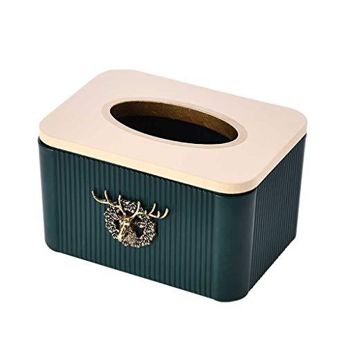 XZJJZ Caja de Tejido nórdico Estilo de luz de Alta Gama Moderno Minimalista Minimalista Almacenamiento Tisual de Escritorio Caja de Papel (Color : A)