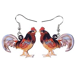 Rooster earrings are the perfect gifts for chicken lovers
